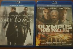 Lot Of 2 Blu-ray - The Dark Tower And Olympus Has Fallen Blu-ray