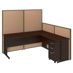 72w C-leg L-desk With Panels And 3 Drawer Mobile Pedestal Bshppc025ht
