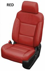 2014-2018 Chevrolet Chevy Silverado Katzkin Red Leather Seat Replacement Covers