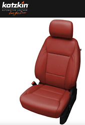 2021 Ford F-150 Xlt Supercrew Katzkin Custom Red Leather Seat Replacement Covers