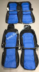 2016-2021 Chevy Chevrolet Camaro Blue Katzkin Leather Seat Replacement Covers