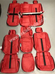 Ford F150 Xl Or Xlt, Supercrew Or Supercab Katzkin Leather Seat Covers Red Black