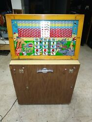 Rare Old Keeney's Twin Big Tent Coin Op Slot Machine Arcade Game - Free Shipping