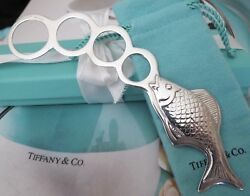And Co. Sterling Silver Brand New Fish Bubble Blower In Pouch Box