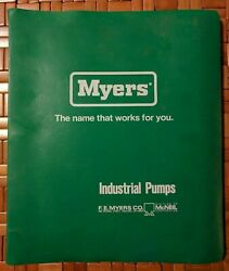 Vintage Myers F.e. Myers Ashland Ohio Industrial Water Pumps Catalog Manuals