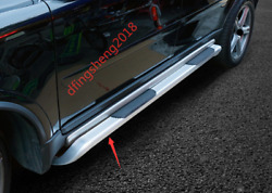 2pcs Stainless Steel Side Pedal Step Board Foot Board Trim For Volvo Xc90