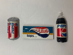 Vintage Collectible Pepsi Kitchen Refrigerator Magnet Lot Of 3 Excellent Cond