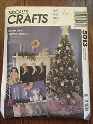 Mccalls 5013, Holiday Lace Victorian Christmas Decorations Pattern Uncut
