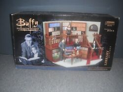 Buffy The Vampire Slayer Vintage Sunnydale High Library Figures Play Set New
