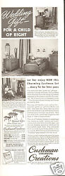 1940 Print Ad Cushman Colonial Creations Furniture Wedding Gift Child Of Eight
