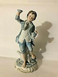 """Andrea By Sadek Young Boy Holding Grapes Bisque Figurine 7190 8"""""""