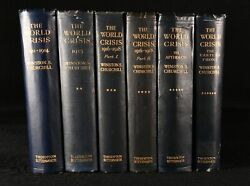 1923-1931 6vol The World Crisis First Edition First Impression Winston Churchill