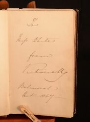 1867 The Early Years Of The Consort Signed By Queen Victoria Presentat...