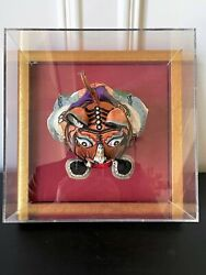 Framed Antique Chinese Child Tiger-head Hat
