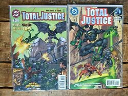 Total Justice 1 And 3 Two Issue Lot Dc 1996 Near Complete Set - Jla