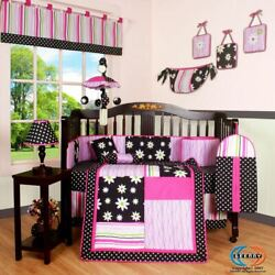 13PCS Charming Flower Baby Nursery Crib Bedding Sets Holiday Special