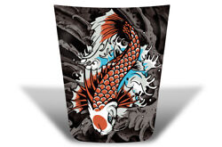Center Hood Wrap Graphic Sticker Decal For Toyota Tacoma 2016-2020 Koi Fish
