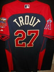 Mike Trout Signed 2014 All Star Jersey Authentic Majestic-l.a. Angels Of Anaheim