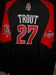 Mike Trout Signed 2015 All Star Jersey Authentic Majestic-l.a. Angels Of Anaheim