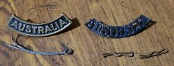 Wwi-wwii Australia Shoulder Title Badge Pins Rare Officer Or Special Issue Badge