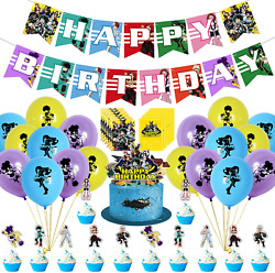 Including 1 Birthday Banner 1 Cake Top My Hero Academia Birthday Party Supplies