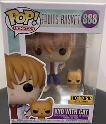 Funko Pop Fruits Basket Kyo With Cat 888 Hot Topic Exclusive Wpp