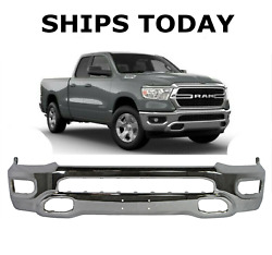 New Chrome Front Bumper For 2019-2021 Ram 1500 New Body Style Ships Today