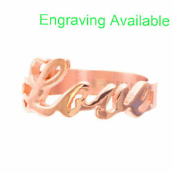 Rose Gold Plated Stainless Steel LOVE Monogrammed Women Girl Fashion Ring $12.99