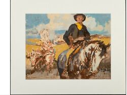 Mid 20th Century Western Figurative Oil Painting By Maurice L Bower