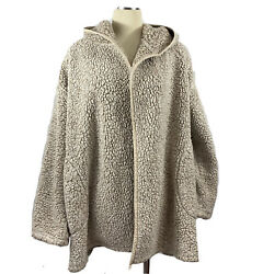 Out from Under for Urban Outfitters Jacket Hooded Oversized Fuzzy One Size $22.00
