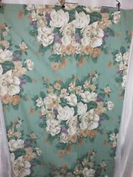 Glynda Turley Southern Traditions Drapes Curtains Green Floral Magnolia Lined
