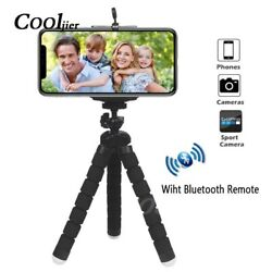 Phone Tripod Mini Stand Mount Flexible With Bluetooth Remote Sponge Max 5.5 In