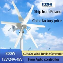 Wind Turbine Kit 800w 48v With 6 Blades And Free 48v Mppt Controller For Home
