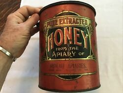 Honey From The Apiary Of Rideau Apiaries Vintage Tin...rare
