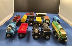 Thomas And Friends Wooden Trains Tenders Cars Track And Coal Mine Lot