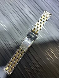 Authentic Breitling 18mm Two Tone 18k Gold And Stainless Steel Bracelet Look