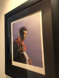 Ronnie Wood Painting Of Jimi Hendrix - Signed Limited Edition