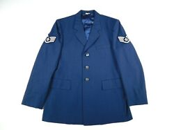 Us Air Force Coat Jacket Military Ssgt Dress Blue 1620 Poly/wool Menand039s 42 Long