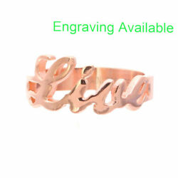 Rose Gold Plated Stainless Steel LIVE Monogrammed Women Girl Fashion Ring $12.99
