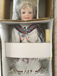 Danbury Mint Shirley Temple 18 Porcelain Doll Peacemaker W/peace Pipe + Stand