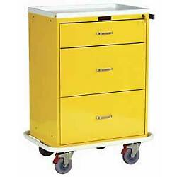 Harloff 6510 Classic 3 Drawer Infection Control Cart