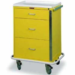 Harloff 6500 Classic Line 3 Drawer Infection Control Cart