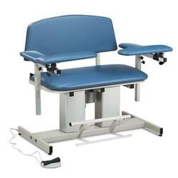 Clinton Power Series Bariatric Blood Drawing Chair With Padded Arms