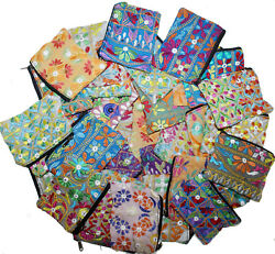 40 Pc Lot Indian Hand Bag Beautiful Clutch Purse Women Vintage Embroidered Pouch