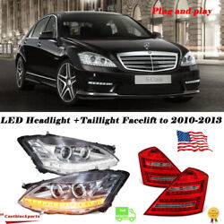 2010 2011 2012 2013 Mercedes S63 S Class Upgrade For 06-09 Headlight+taillight