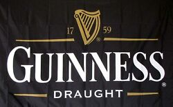 3x5FT Guinness Traditional Flag Irish Beer Bar Restaurant Party Dorm St Patty#x27;s