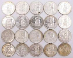 Canada British Columbia Silver Dollars 1858-1958 Totem Pole 20-coins Ch Unc