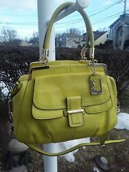 COACH Madison Pinnacle Pebbled Leather 22330 LILY Satchel Shoulder Bag $70.00