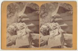 1870and039s Arizona Paiute Indian Woman - Powell Survey Stereoview By Hillers