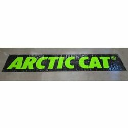Arctic Cat Banner 4 X 20 Ft Poly Garage Banner Black And Green 4953-095
